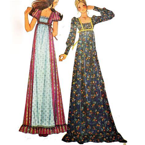Maxidress Vintage vintage 70s maxi dress pattern mccalls 3898 bohemian
