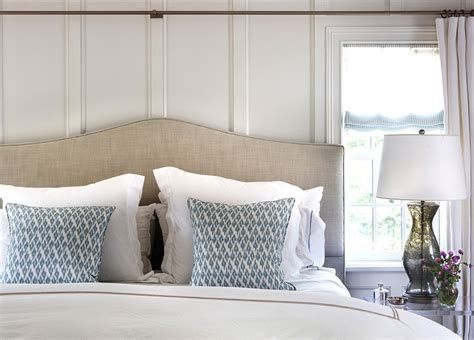 curtain rods transitional bedroom design