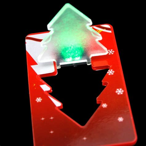 christmas portable pocket mini tree folding led card light