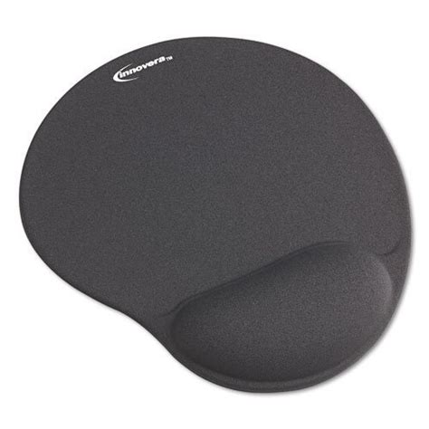 Mouse Pad by Innovera Mouse Pad With Gel Wrist Pad Gray 50449 By
