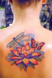 Lotus And Butterfly 37 Traditional Lotus Tattoos Ideas