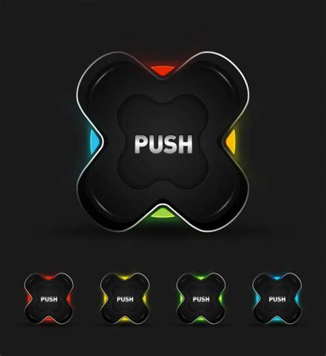 hi tech hi tech buttons collection vector free