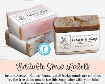 Soap Labels Etsy Soap Label Templates