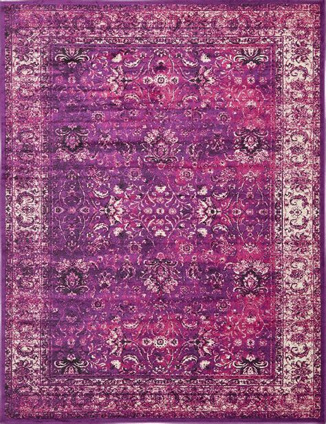 Modern Purple Rugs Transitional Purple Faded Large Rug Modern Small Traditional Carpet Vintage