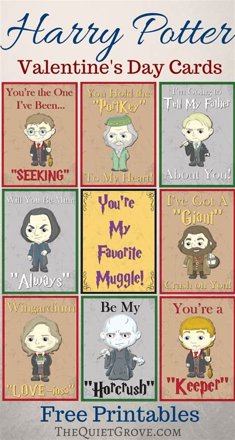 free printable harry potter cards