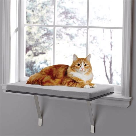 cat window bench deluxe pet cat window perch seat bed kitty shelf mounted