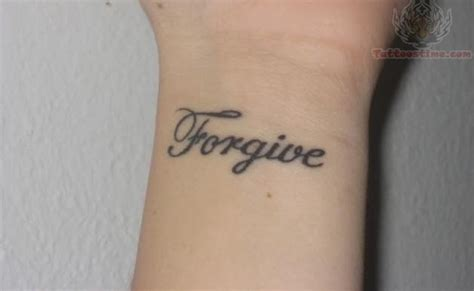 forgiveness tattoos forgive lettering