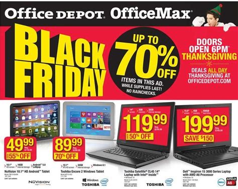 office depot coupons black friday office depot or office max black friday ad 2015