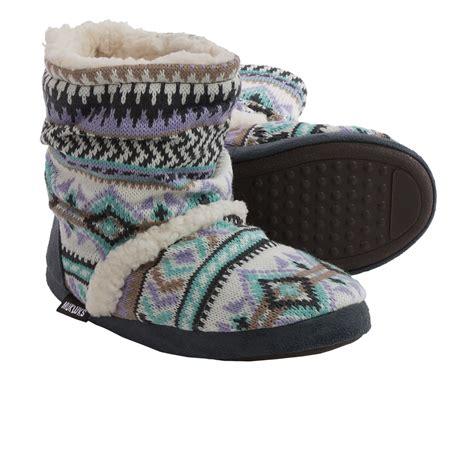 boot slippers for muk luks scrunch boot slippers for in desert fairisle