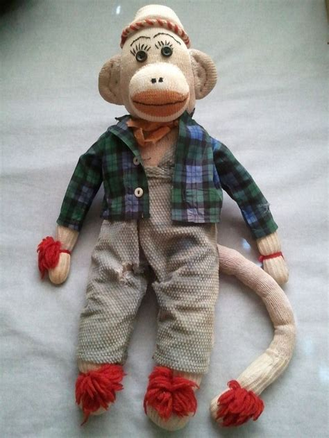 Monkey Handmade - vintage sock monkey handmade with shirt and trousers 18