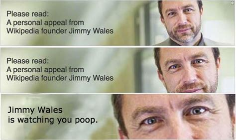 Wikipedia Donation Meme - jimmy wales photo helps wikipedia set fundraising record