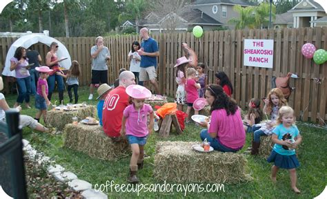 backyard cing party ideas cowgirl birthday party ideas coffee cups and crayons