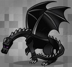 draw ender dragon step  minecraft pinterest