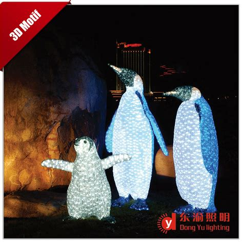 all festive outdoor decoration 3d penguin christmas motif