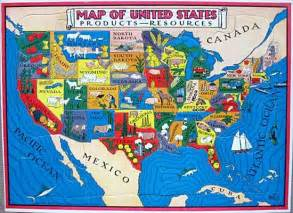 united states resources map 1940 s child s illustrated map of the usa by