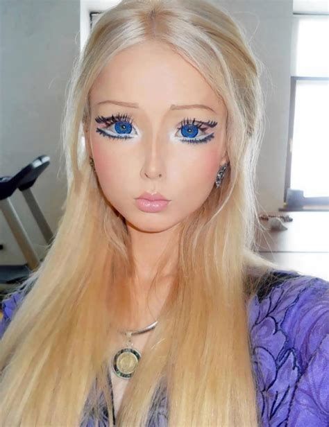 human barbie doll eyes human barbie is no longer eating surviving on light and