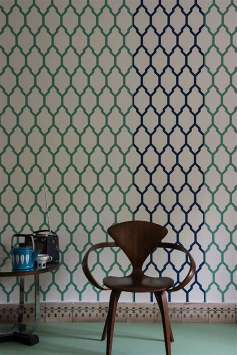 farrow balls striking  wallpapers architectural digest