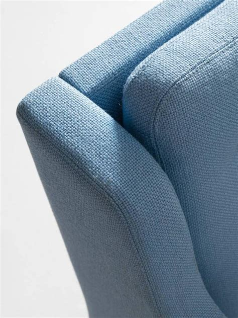 lounge upholstery fabric erik j 248 rgensen lounge chair in light blue fabric