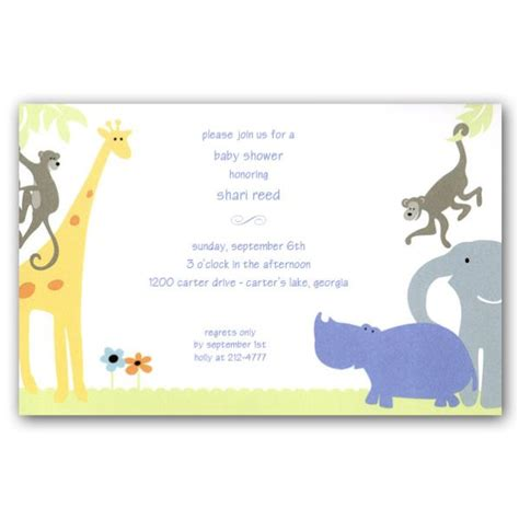 Safari Baby Shower Invitations by Safari Baby Shower Invitations Paperstyle