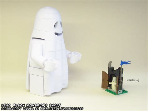 Ghost Papercraft - poor papercraft lego ghost by ninjatoespapercraft on