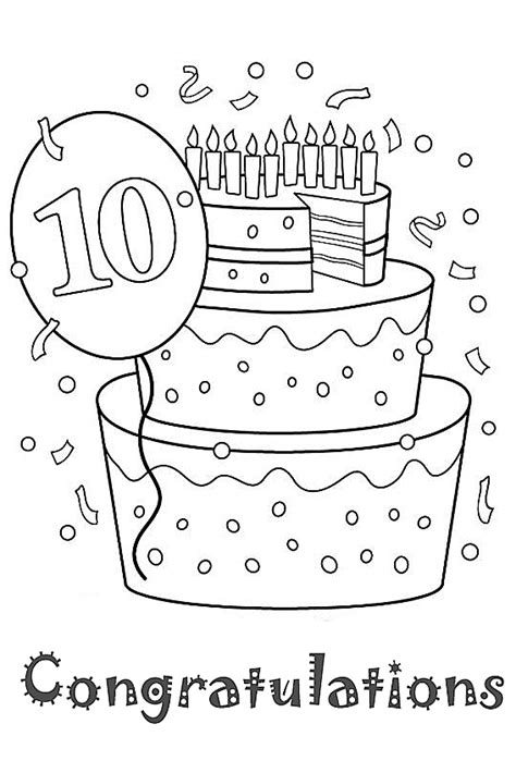 birthday coloring pages for 10 year olds birthday coloring pages for 10 year olds coloring pages