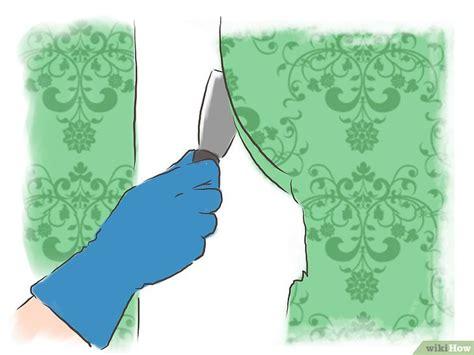 togliere tappezzeria come rimuovere dal muro la colla da tappezzeria