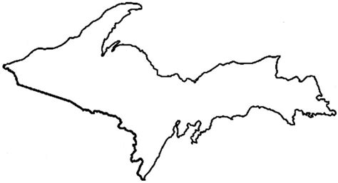Printable Outline Of Michigan by Ss2700 Fall 2014 Intro To Sociology Student