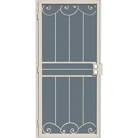 Gatehouse Security Doors by Shop Gatehouse Sonoma Almond Steel Surface Mount Single