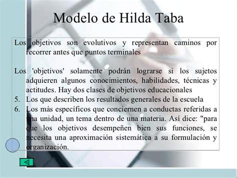 Objetivos Modelo Curricular De Hilda Taba Hilda Taba M