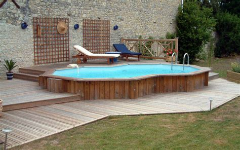 wooden pool decks the pool on pinterest above ground pool decks and