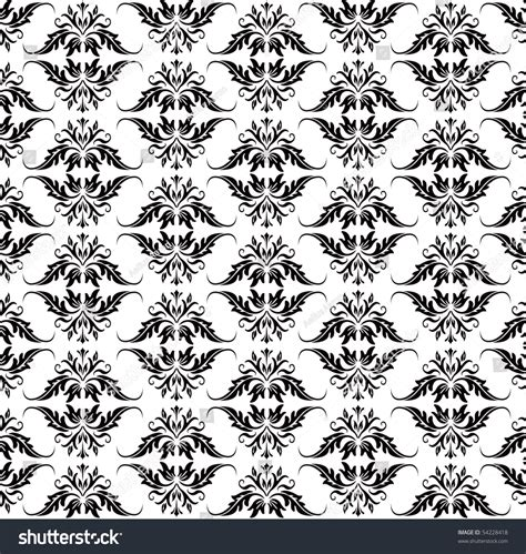 White Also Search For Black Baroque Pattern On White Also Available In Vector 54228418