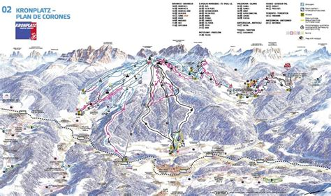Ski map of Kronplatz   Plan de Corones   Dolomiti Superski