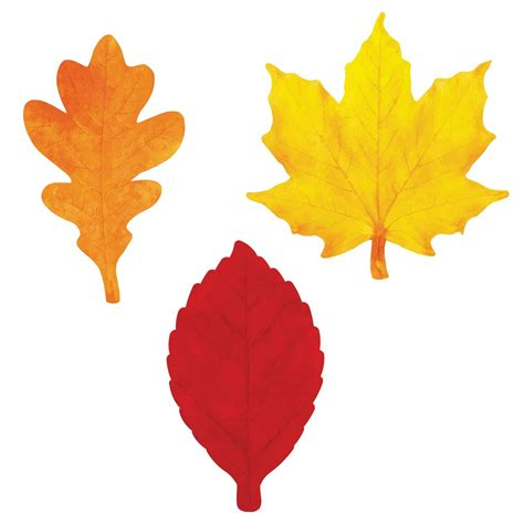 printable fall leaves clip art pumpkin leaf template clipart best