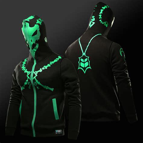 lol thresh chain warden sweatshirt black full face cosplay hoodie for boy wishining