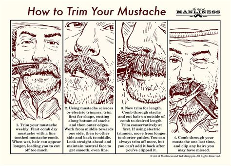 the 39 mustache comb the start up guide to manufacturing books how to trim your mustache an illustrated guide the