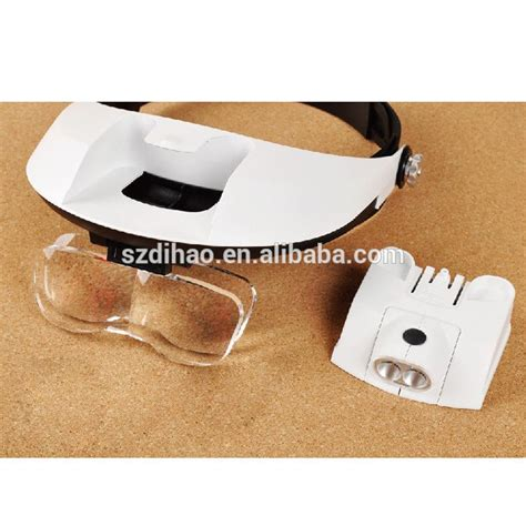 Promo Kacamata Pembesar Reparasi Jam 11x Magnifier 2 Led White Pal dihao tech adjustable jewelry loupe jewelry tools sale wearing magnifier buy adjustable