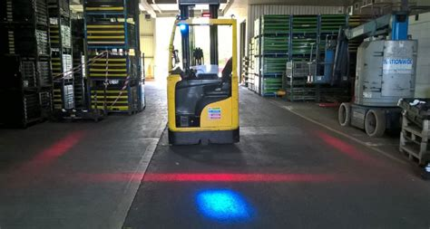 blue forklift safety light safety lights fork truck