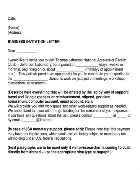 Invitation Letter Abroad Letters In Pdf