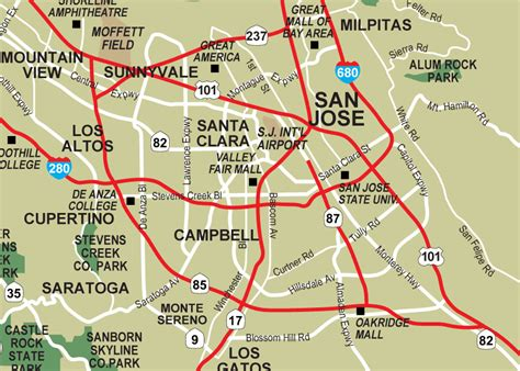 san jose safety map san jose mapsof net