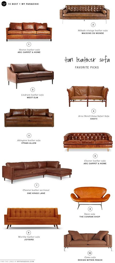 Types Of Couches Names by 25 Best Ideas About Leather Couches On