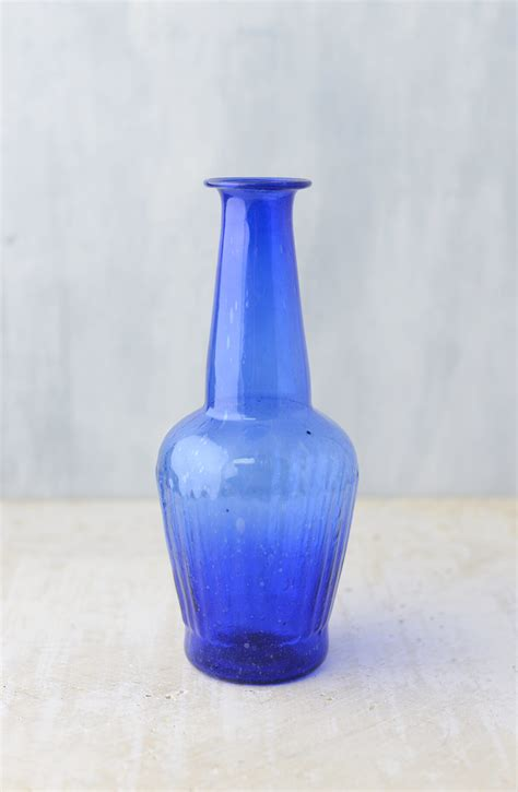 cobalt blue glass vase 7 25 quot