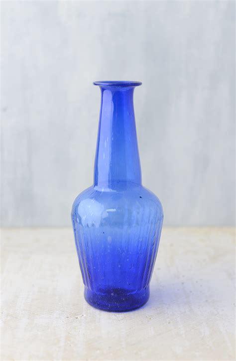 Blue Glass Vase by Cobalt Blue Glass Vase 7 25 Quot