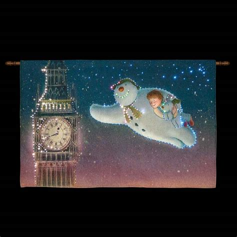snowtime battery operated fibre optic tapestry 33 x 22
