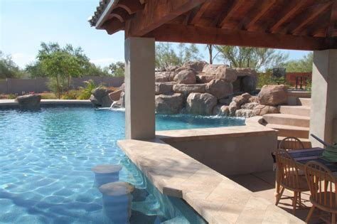 backyard pool bar swim up bars in your own backyard phoenix landscaping
