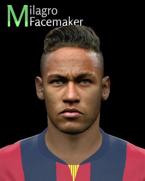 hair neymar pes 2015 name neymar jr pes2015 face by milagro pes patch