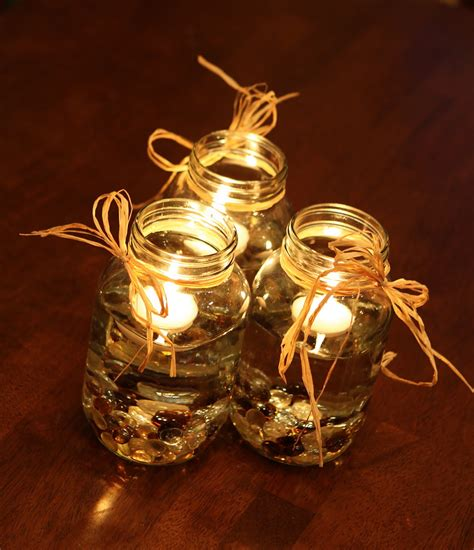 creastive ideas on wedding centerpieces with candles in
