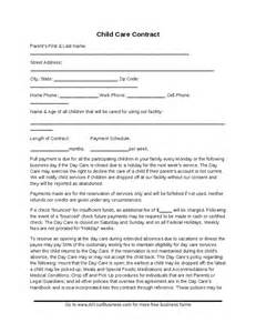 Babysitting Contract Template by Child Care Contract Template Hashdoc