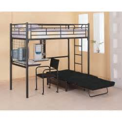 futon loft bed loft bunk bed with futon chair desk