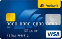postbank kreditkarte reise postbank visa card kreditkarte im test