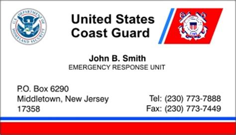 free coast guard business card template united states coast guard auxiliary business cards best